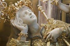 巴勒莫-圣塔罗萨莉娅巴勒莫的受护神雕象  免版税图库摄影