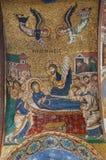 巴勒莫-圣洁玛丽死亡马赛克在天花板的从圣玛丽亚dell Ammiraglio或La Martorana教会  免版税库存图片