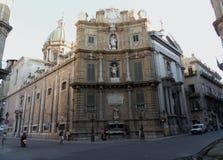 巴勒莫-广场Vigliena 免版税库存图片