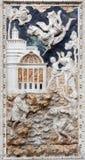 巴勒莫-旧约场面巴洛克式的安心在教会基耶萨di圣诞老人Caterina里 免版税图库摄影