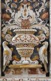 巴勒莫-从马赛克装饰的细节在教会La chiesa del Gesu或住处Professa 库存照片