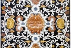 巴勒莫-从马赛克装饰的细节在教会La chiesa del Gesu 库存照片