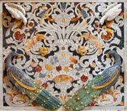 巴勒莫-从马赛克装饰的细节在教会La chiesa del Gesu 免版税库存照片