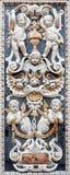 巴勒莫-从马赛克装饰的细节在教会La chiesa del Gesu 库存图片