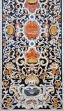 巴勒莫-从马赛克装饰的细节在教会La chiesa del Gesu 免版税图库摄影