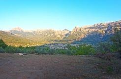 索勒谷山风景 免版税库存图片