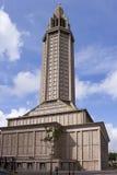 勒阿弗尔大教堂 免版税库存图片