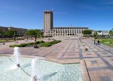 勒阿弗尔市政厅在诺曼底,法国 库存图片
