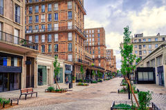 勒阿弗尔,诺曼底,法国中央街道  免版税库存图片