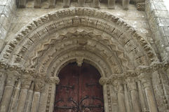 维勒de夫人, Palas de Rey,卢戈,西班牙教会  免版税库存照片
