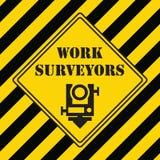 勘测的工业标志 库存照片