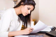 勤勉妇女 免版税库存图片