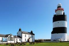 勾子灯塔,韦克斯福德郡,爱尔兰 免版税库存照片