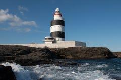 勾子顶头灯塔, Co韦克斯福德,爱尔兰 免版税库存图片