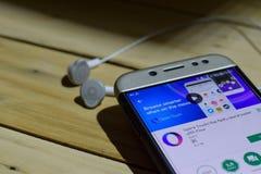 勿加泗,西爪哇省,印度尼西亚 2018年7月04日:电子邮件TypeApp -邮寄App在智能手机屏幕上的dev应用 电子邮件TypeApp - MailB 库存图片