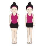 匀称的妇女肥胖和 图库摄影