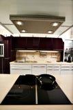 美妙地被设计的厨房 库存照片