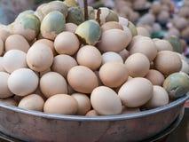 包含未开展的胚胎的煮沸的鸡蛋在泰国 免版税图库摄影