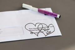 包含澳大利亚同性恋婚姻邮政表决的信封 免版税图库摄影