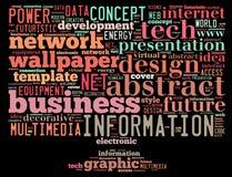 包含词的概念性标记云彩与计算的云彩,计算机性能,存贮,网络,流动性,软件ot关连 图库摄影