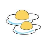 包含鸡蛋油煎的例证滤网向量 免版税库存图片