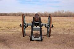 包围弯曲的` s老堡垒全国古迹的平原 免版税库存图片