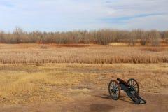 包围弯曲的` s老堡垒全国古迹的平原 库存照片
