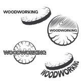 包括一块木头的四个不同图象例证 免版税库存图片