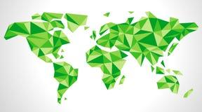 包括三角的世界地图 免版税库存照片