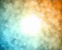 包括三角的抽象背景样式 光栅拷贝 库存照片