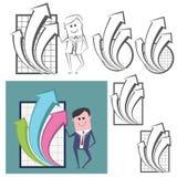 包括几个不同的图表图象的例证 免版税库存图片