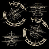 包括四个图象的例证以体育飞机的形式 库存照片