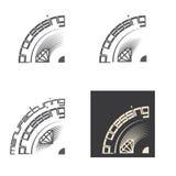 包括四个图象的例证以石头的形式 库存图片
