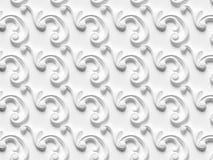 包括建筑装饰和装饰产品的各种各样的元素浅浮雕无缝的纹理 库存例证