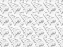 包括建筑装饰的各种各样的元素浅浮雕无缝的纹理 库存例证