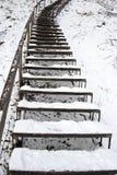 包括的小山主导的雪台阶浸泡冬天 免版税图库摄影