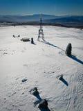 包括的山雪塔 库存图片
