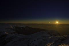 包括的山雪 33c 1月横向俄国温度ural冬天 库存照片