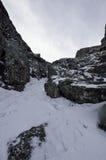 包括的山雪 33c 1月横向俄国温度ural冬天 免版税库存照片