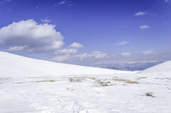 包括的山雪 33c 1月横向俄国温度ural冬天 免版税库存图片