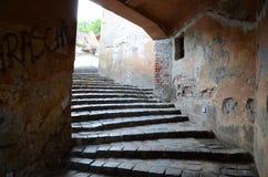 包括的里面oara sighi楼梯 库存照片