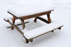 包括的野餐雪表 免版税库存图片