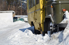 包括的雪卡车 库存图片