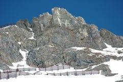 包括的高峰雪 库存照片