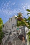 包括整个大厦墙壁的街道画在Psirri邻里,在 库存照片