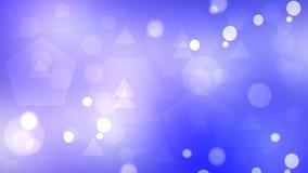 包括triangl的紫罗兰色抽象几何bokeh背景 向量例证