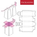 包装与勾子的吊的 包装的传染媒介例证 向量例证