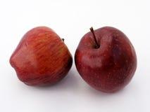 包装和果汁组装图片特别系列的2最佳的红色苹果 免版税库存图片