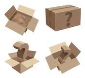 包装有未知的内容的纸板箱 库存图片