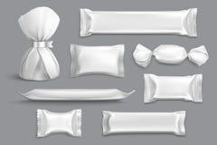 包装现实空白的糖果 向量例证